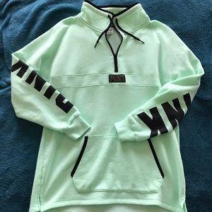 VS PINK Oversized Tunic Half-Zip, Small